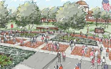 Design sketch of 1st Street Promenade
