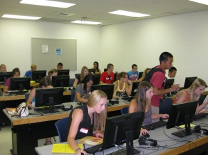 Students Registering for Classes