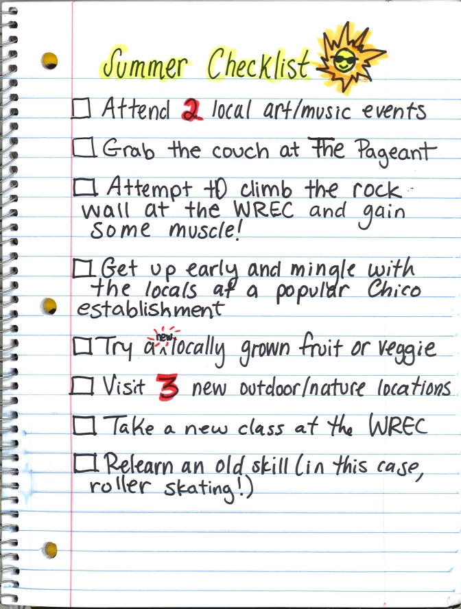 My Summer Checklist