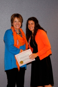 Hannah with College of Agriculture Dean Jennifer Ryder Fox