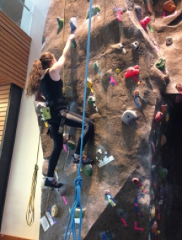 "Climbing the ""Green Jugs"" beginners' route"